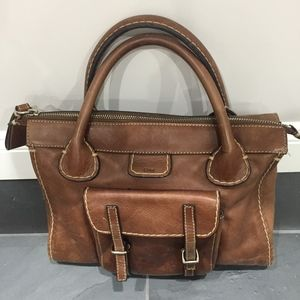 Authentic Brown Leather Chloe Bag